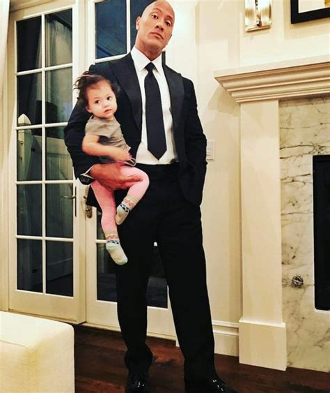 dwayne johnson the rock daughter proud dad dwayne the rock johnson surprised by his