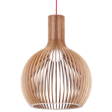 wooden light wooden pendant light