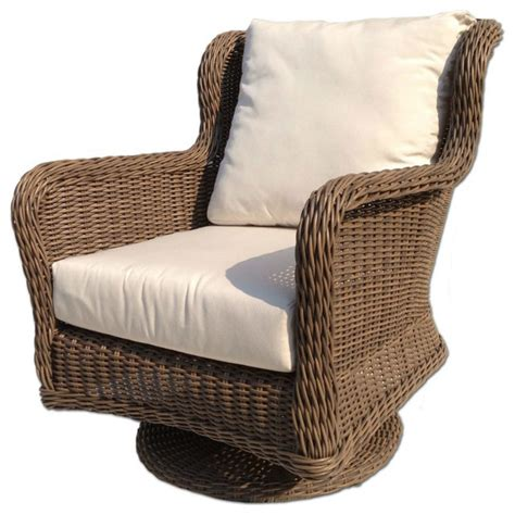 Outdoor Wicker Swivel Chair Bayshore Contemporary Outdoor Wicker Swivel Chair