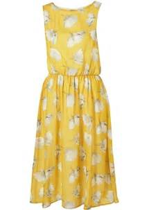 A Slice Of Designer Androgyny by Yellow Buttercup Print Midi Dress 7 Festival Dresses