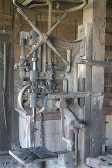 vintage silver mfg  post drill press antique blacksmith