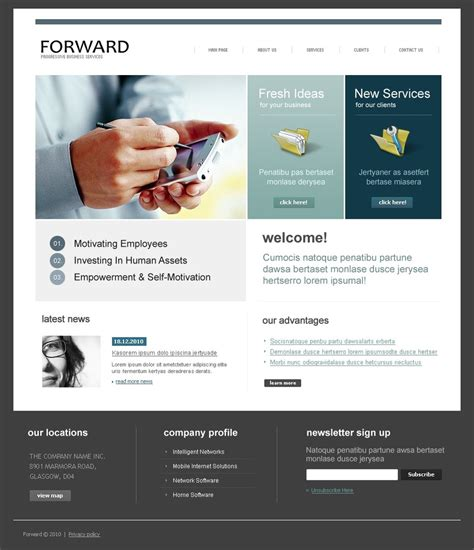 corporate express website template web design templates