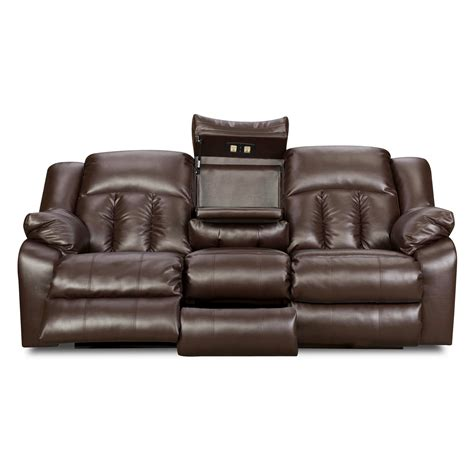Simmons Upholstery Sebring Bonded Leather Double Motion Simmons Leather Sofa And Loveseat