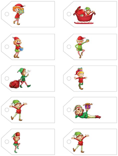 free printable elf name tags letters from santa presents free printable christmas gift