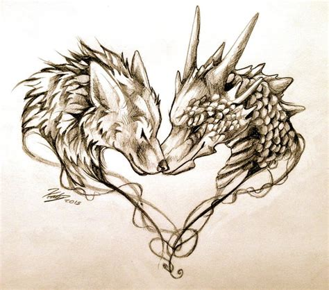 dragon heart tattoo designs 49 wolf designs and ideas