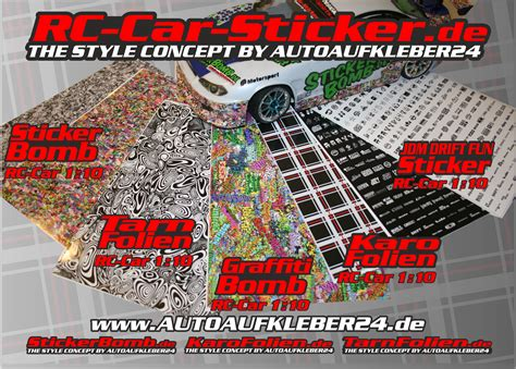 Sponsoren Aufkleber Rc Car by Rc Car Sticker Aufkleber Folien Decals Modellbau