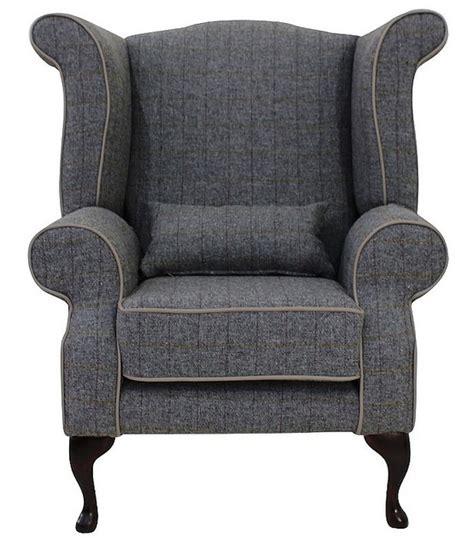 tweed arm chair chesterfield edward wool tweed wing chair designersofas4u