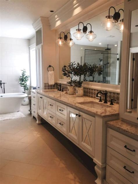 cool farmhouse bathroom remodel ideas rustic master