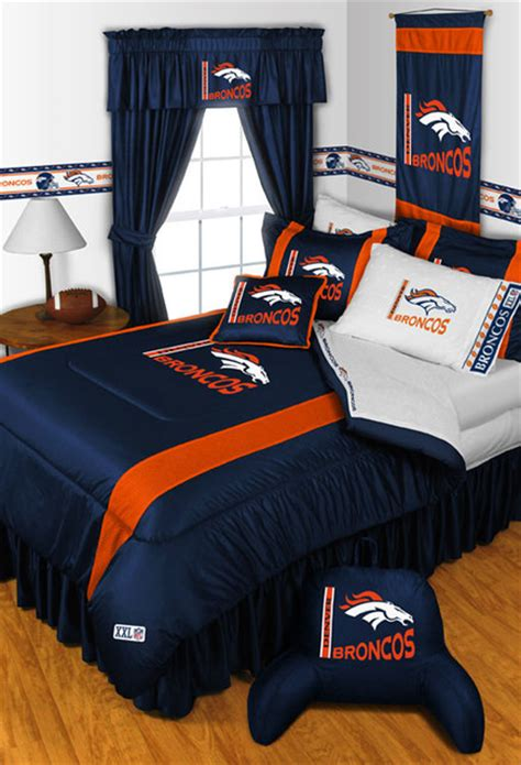 nfl denver broncos bedding and room decorations modern