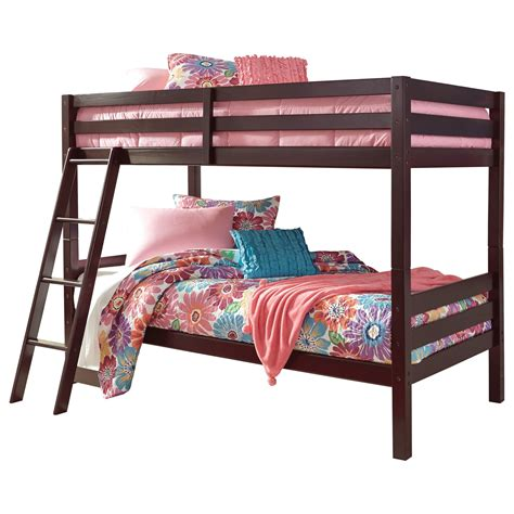 signature design  ashley halanton   solid pine twintwin bunk bed del sol furniture