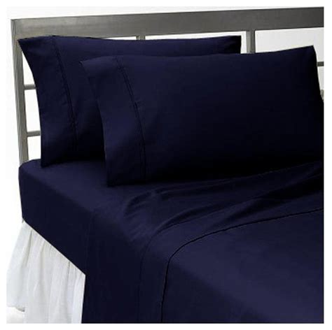 navy blue bed sheets 300tc 100 egyptian cotton solid navy blue expanded queen