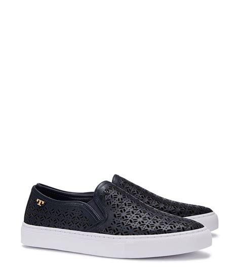 burch slip on sneaker lyst burch lennon perforated slip on sneaker in blue