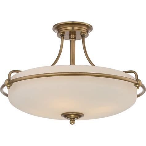 Semi Flush Ceiling Lights Uk Elstead Lighting Quoizel Griffin 4 Light Semi Flush Ceiling Fitting In Weathered Brass Finish