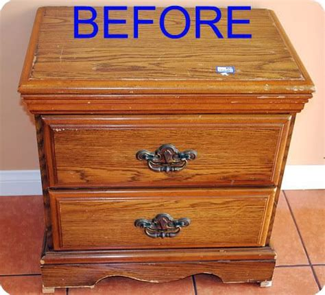 How To Refinish Nightstand refinishing a nightstand before for the home