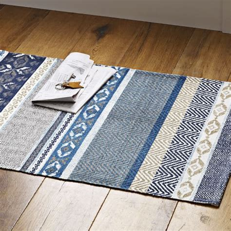 west elm rug runner harvest printed cotton dhurrie west elm