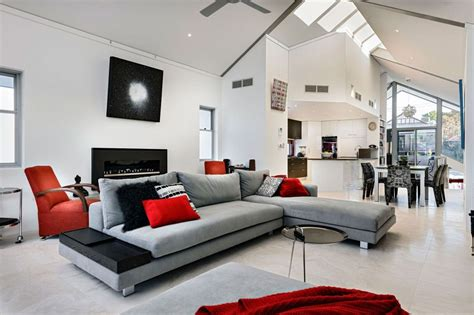 red and gray living room red and gray living rooms cozy and pleasant gray living