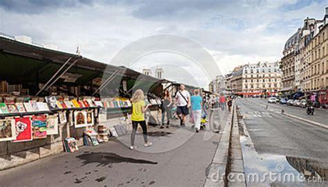 design quarter art shop small souvenir shops with walking people paris france