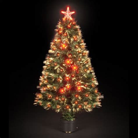 buy 180cm 6ft red saturn fibre optic christmas tree with