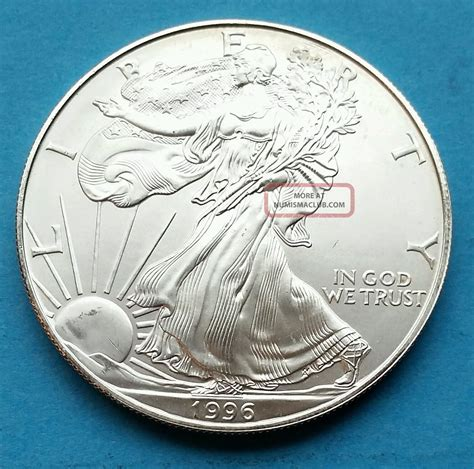 1 Oz Silver Eagle Mintage - 1996 1 oz silver american eagle brilliant uncirculated