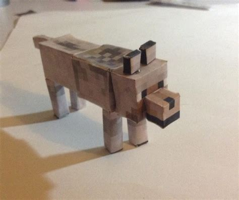 Papercraft Minecraft Wolf - wolf paper crafts