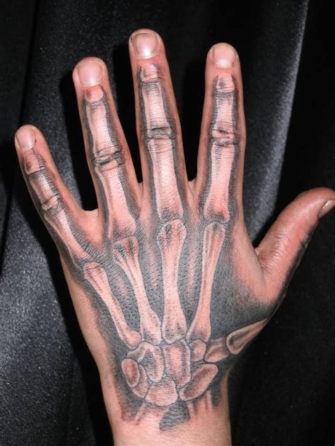 hand bone tattoo 10 amazing bone tattoos