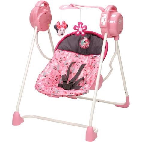 minnie mouse baby swing disney sway n play swing sweet minnie walmart