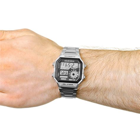 Lcd 14 1a new casio ae1200whd 1avef world time lcd s wrist