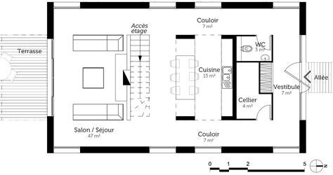 plan maison demi niveau 4 chambres incroyable plan maison etage chambres plan au sol