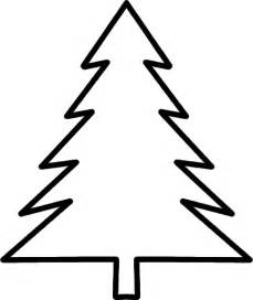 evergreen tree outline az coloring pages