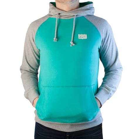 asics onitsuka tiger hooded sweater green grey