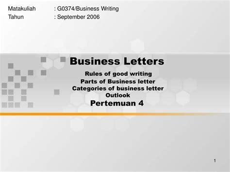 Effective Business Letter Ppt writing effective business letters ppt docoments ojazlink