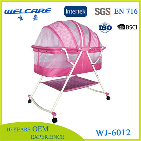 Pink Baby Swing Bed Foldable Baby Cribs With Canopy Buy