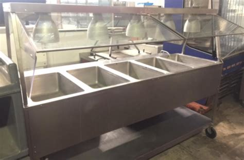 Used Aerohot Duke 5 Well Stainless Steam Table W Warmers