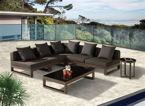 outdoor sectional sofas modern outdoor quot v quot shape sectional sofa set for 5
