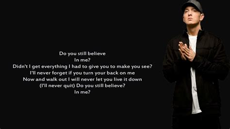 Eminem Believe Lyrics | eminem believe lyrics youtube