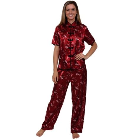 Pj Pj Pajamas s satin pajamas inspired pj set rossa