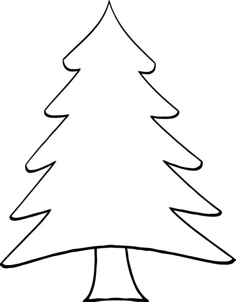 pine tree template free simple tree outline clipart best