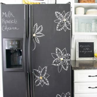 chalkboard paint can you paint diy project how to paint a fridge with chalkboard paint