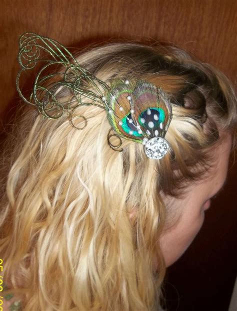 Wedding Hair Accessories Tutorial by Peacock Feather Hair Fascinators For Bridesmaids Pic