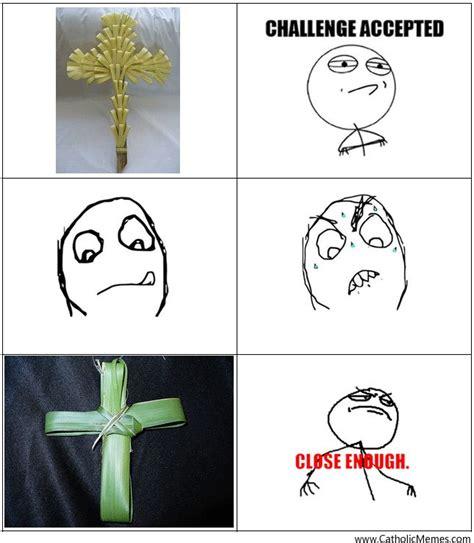 palm meme palm sunday crosses catholic humor palm