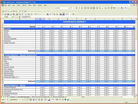 Profit Spreadsheet by 4 Profit And Expense Spreadsheet Excel Spreadsheets