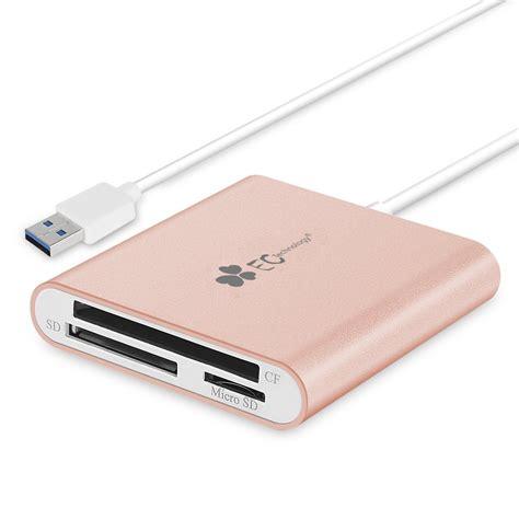 Multifunction Usb 3 0 Microsd Sd Card Reader Black T3010 1 ec technology superspeed multi usb 3 0 card reader for sd