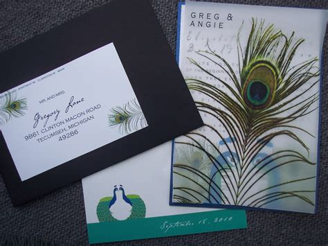 peacock wedding invitations square1mailers happenings