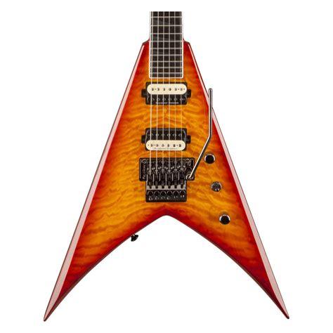 Gitar Jackson Vliying V 4 jackson kvq pro series king v electric guitar transparent