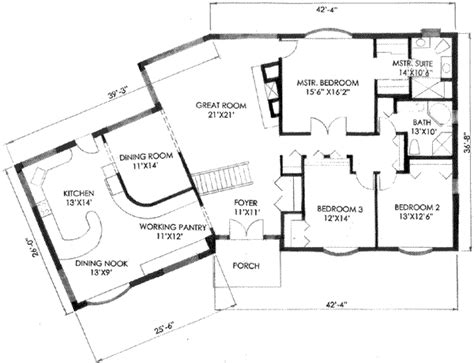 2400 square foot house plans ranch style house plan 3 beds 2 00 baths 2400 sq ft plan