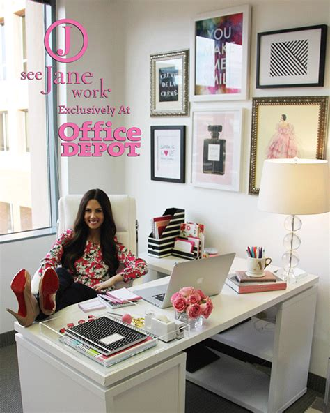 chic office decor the sorority secrets workspace chic with office depot see work ali s picks