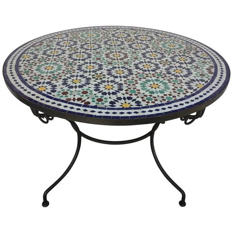 Moroccan Marble And Mosaic Table Indoor Or Outdoor