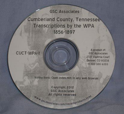 Cumberland County Records Cumberland County Tennessee Records Transcribed And Indexed By The Wpa