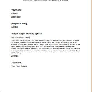 compliment letters writelettercom