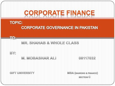 Corporate Governance Mba Notes Pdf by Corporate Governance
